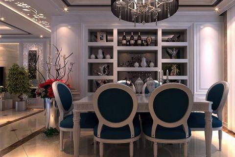 餐厅博古架欧式风格装饰设计图片