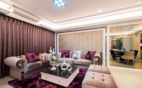 客厅沙发简欧风格装修设计图片