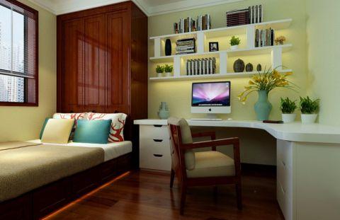 卧室书桌新中式风格装潢图片