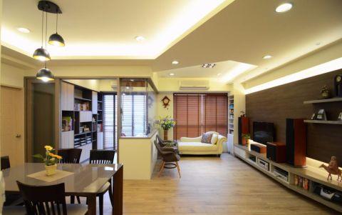 7.2万预算120平米三室两厅装修效果图