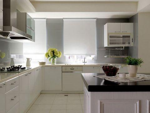 厨房窗帘简欧风格装饰效果图