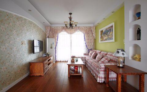 6.57万预算120平米三室两厅装修效果图