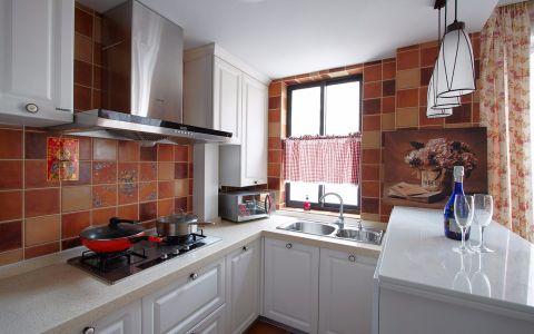 厨房背景墙田园风格装潢效果图