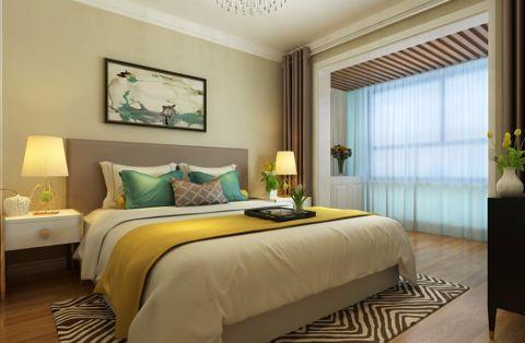 卧室床简约风格装修效果图