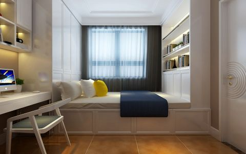 卧室窗帘现代简约风格装饰设计图片