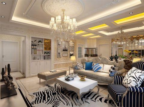 8万预算128平米三室两厅装修效果图