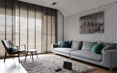 百佳花园美式风格三居室效果图