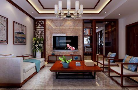 5.5万预算140平米三室两厅装修效果图