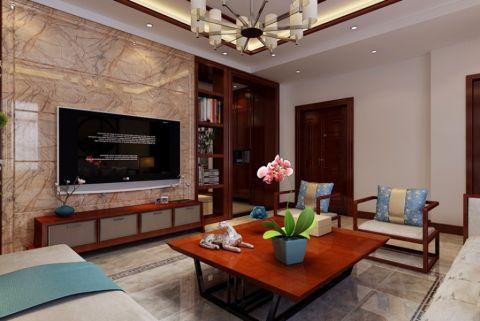 客厅电视柜新中式风格装饰图片