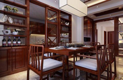 餐厅推拉门新中式风格效果图