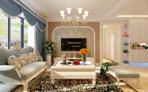 4万预算130平米三室两厅装修效果图