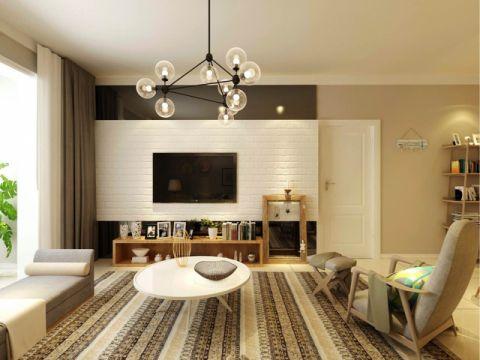 6万预算90平米两室两厅装修效果图