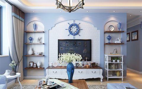 客厅电视柜地中海风格装饰效果图