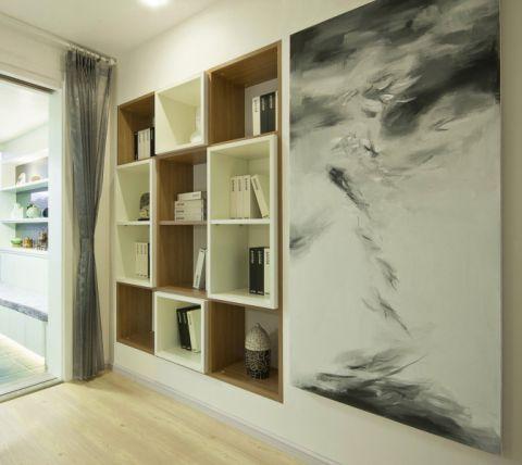 书房书架简约风格装饰图片