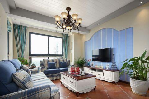 20万预算100平米两室两厅装修效果图