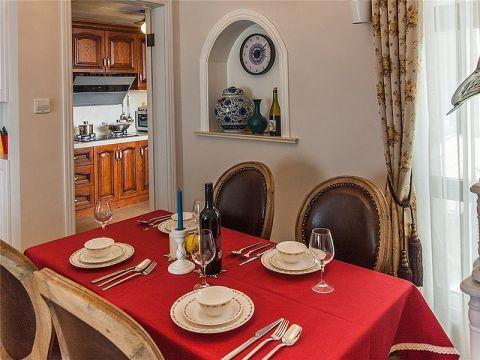 餐厅窗帘新古典风格装修图片