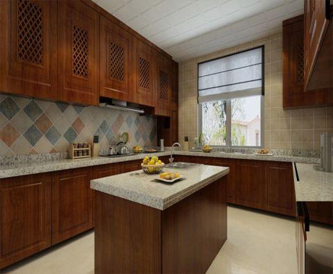 厨房厨房岛台简欧风格装饰效果图