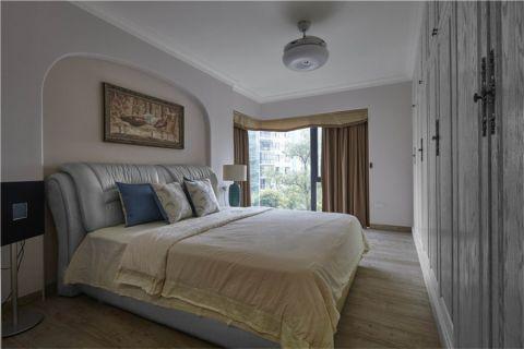卧室窗帘北欧风格装修设计图片