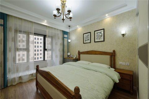 卧室背景墙田园风格装饰设计图片