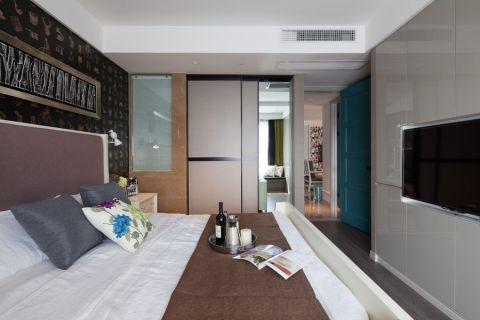 卧室背景墙韩式风格装潢图片