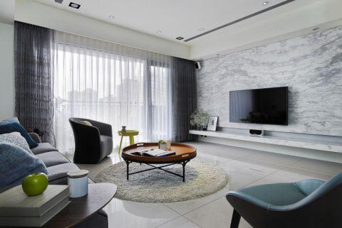 客厅地砖简约风格装饰设计图片