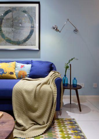 客厅背景墙韩式风格装饰设计图片