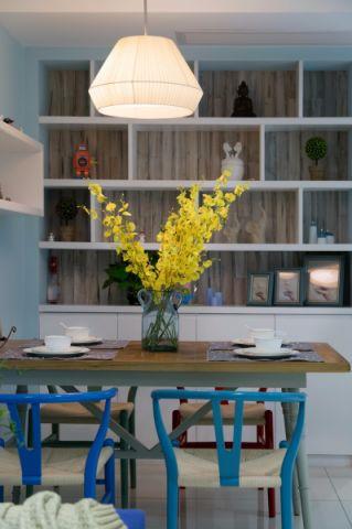 餐厅博古架韩式风格装潢设计图片