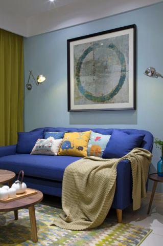 客厅窗帘韩式风格效果图