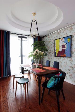 餐厅吊顶美式风格装修图片