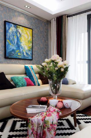 客厅窗帘美式风格装潢图片