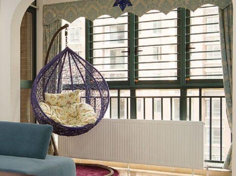 阳台窗帘地中海风格装潢图片