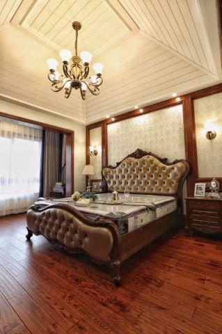 卧室背景墙新古典风格装饰图片