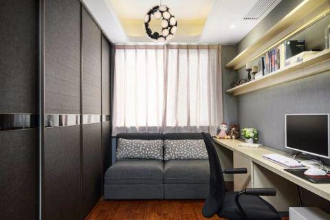 书房沙发现代简约风格效果图