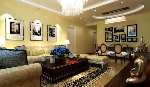 8万预算106平米两室两厅装修效果图