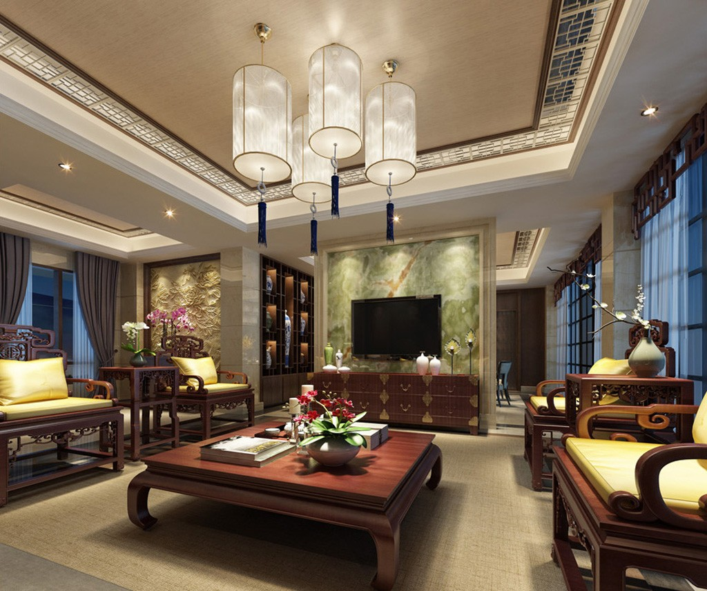 6室6卫3厅420平米中式风格