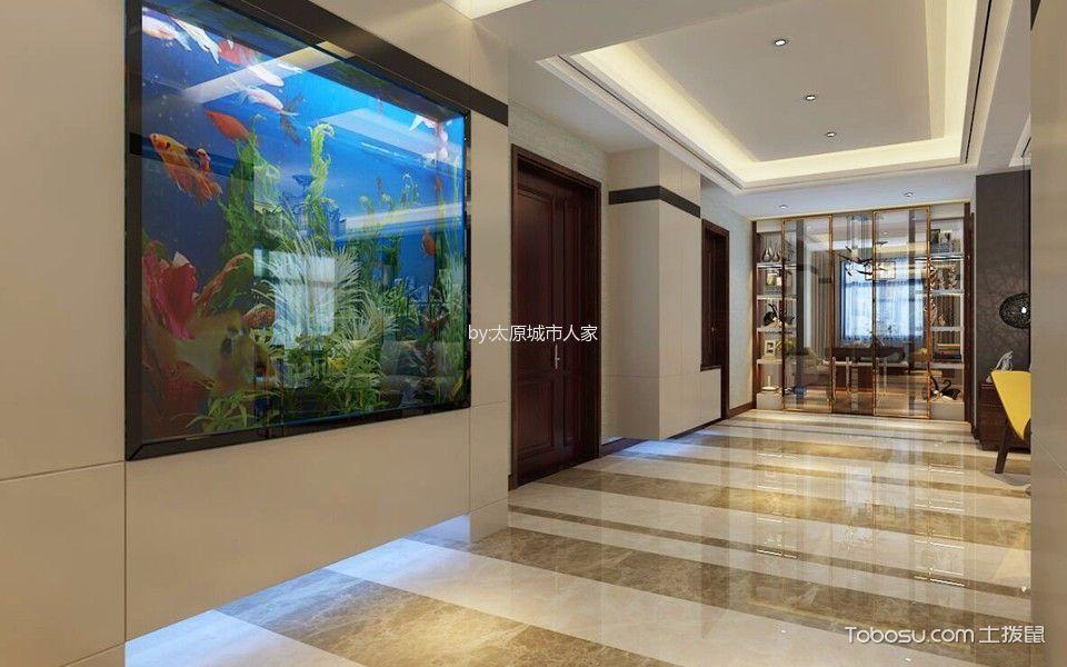 玄关 走廊_6.5万预算180平米三室两厅装修效果图