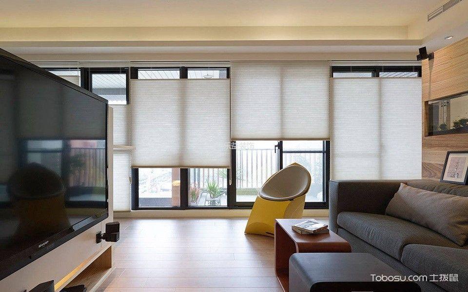客厅白色窗帘北欧风格装饰效果图
