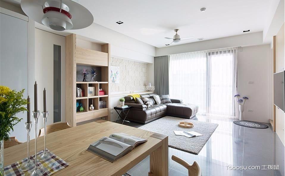客厅灰色窗帘北欧风格效果图