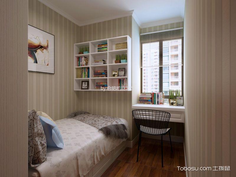 儿童房白色书桌简欧风格装潢设计图片