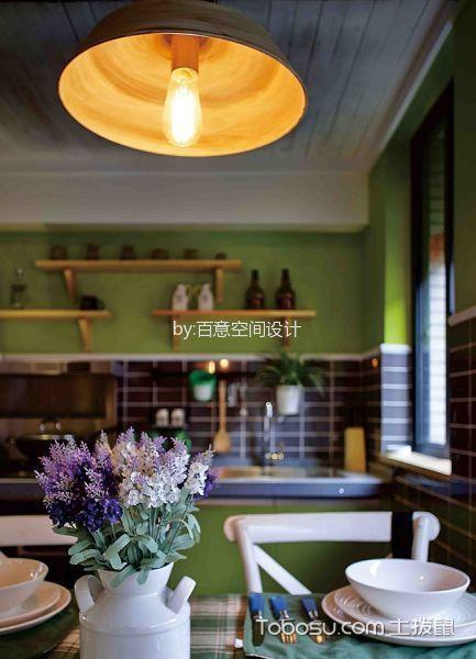 餐厅黄色细节混搭风格装潢效果图