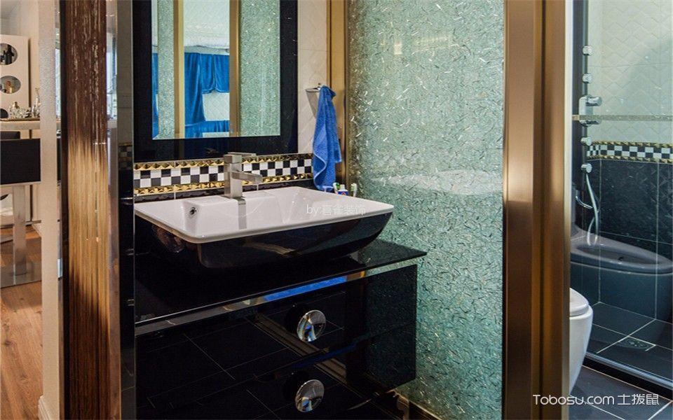 卫生间黄色推拉门现代简约风格装修图片