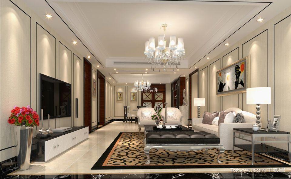 珠江新城天鑾现代四居室装修效果图