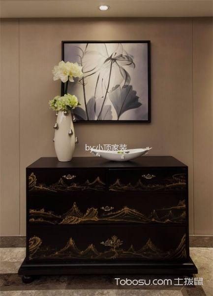 餐厅咖啡色背景墙混搭风格装修设计图片