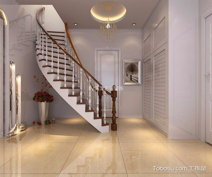 玄关米色楼梯现代风格装修效果图