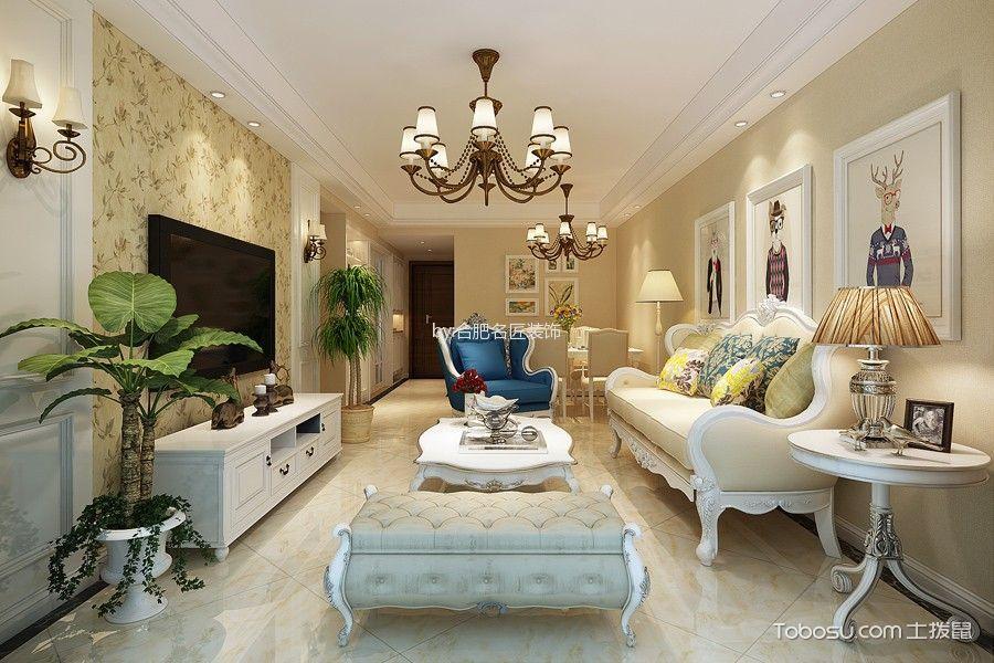 4.6万预算120平米三室两厅装修效果图