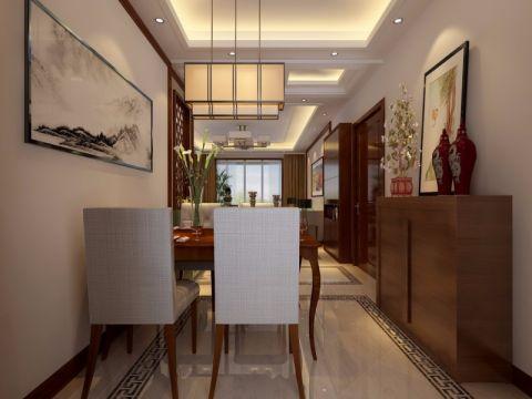 餐厅背景墙简中风格装潢设计图片