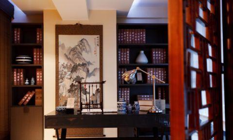 书房博古架新中式风格装潢图片
