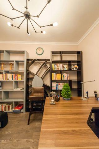 书房书架现代风格装饰图片