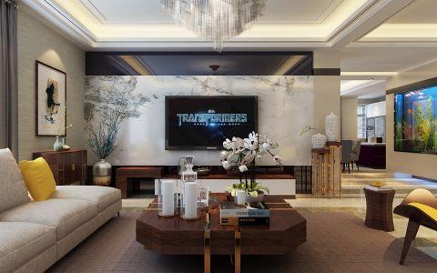 6.5万预算180平米三室两厅装修效果图