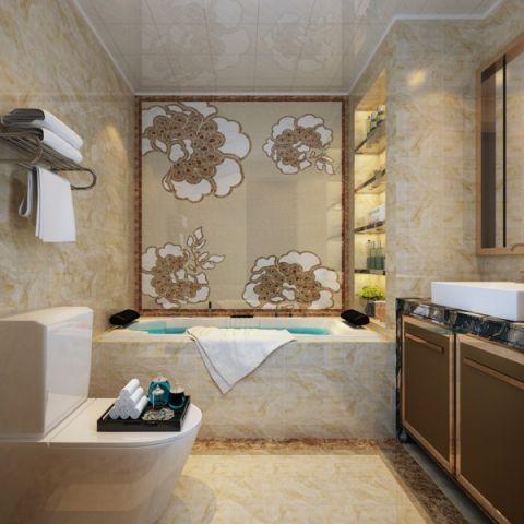 浴室浴缸现代简约风格装潢效果图